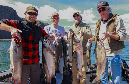 Salmon steelhead and sturgeon fishing with lance fisher for Columbia river fishing guides