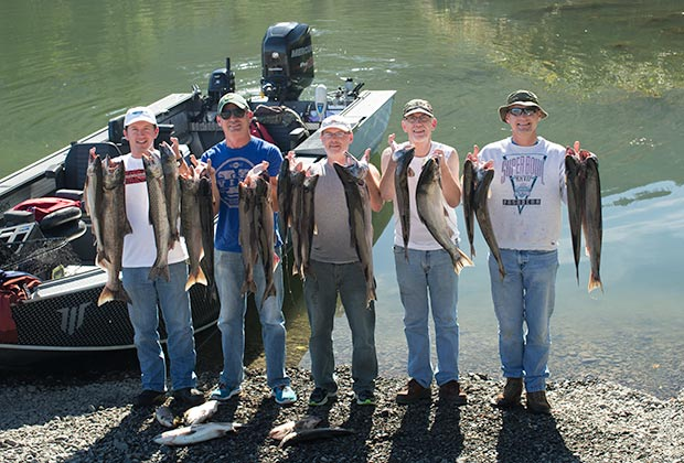Klickitat, Washington Salmon caught with guide, lance fisher