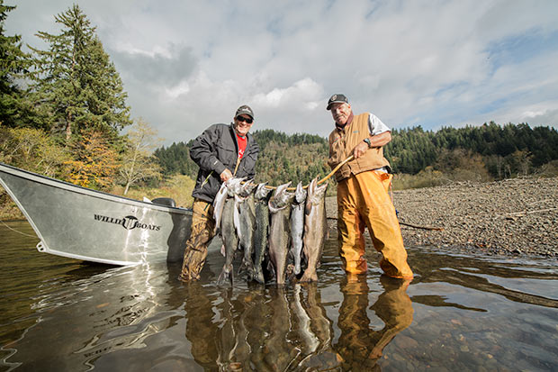 A nice load of Salmon caught in Tillamook County with guide, Lance Fisher