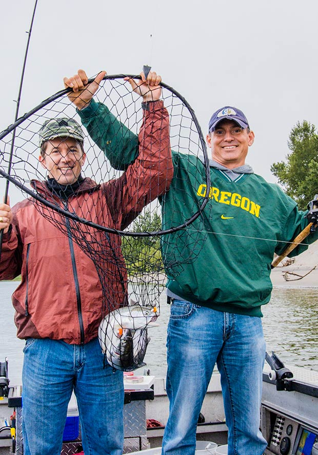 A Columbia River Steelhead double!