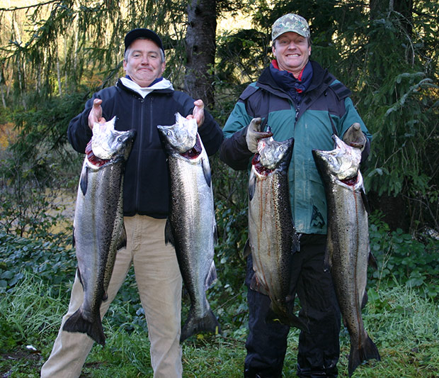 fall chinook salmon fishing on the nestucca river with guide lance fisher