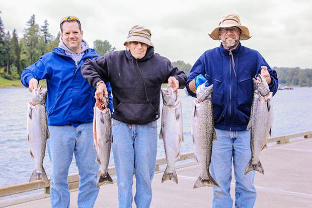spring chinook salmon caught on the Willamette River with guide Lance Fisher