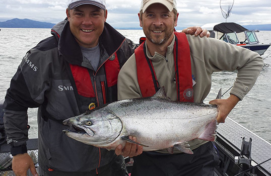 salmon caught with guide Lance Fisher on the Columbia River near Astoria and Buoy 10
