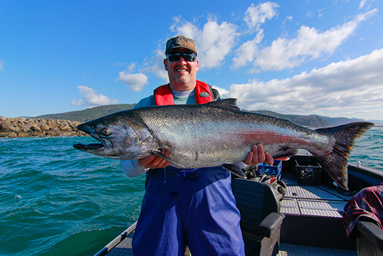 A november rain our salmon fishing needs it for Tillamook fishing report