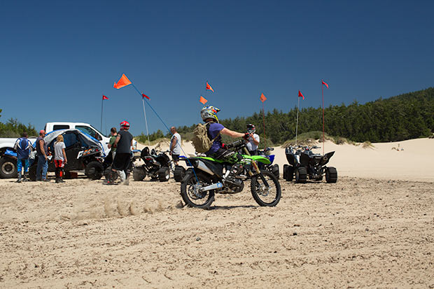 winchester bay atv activity is high