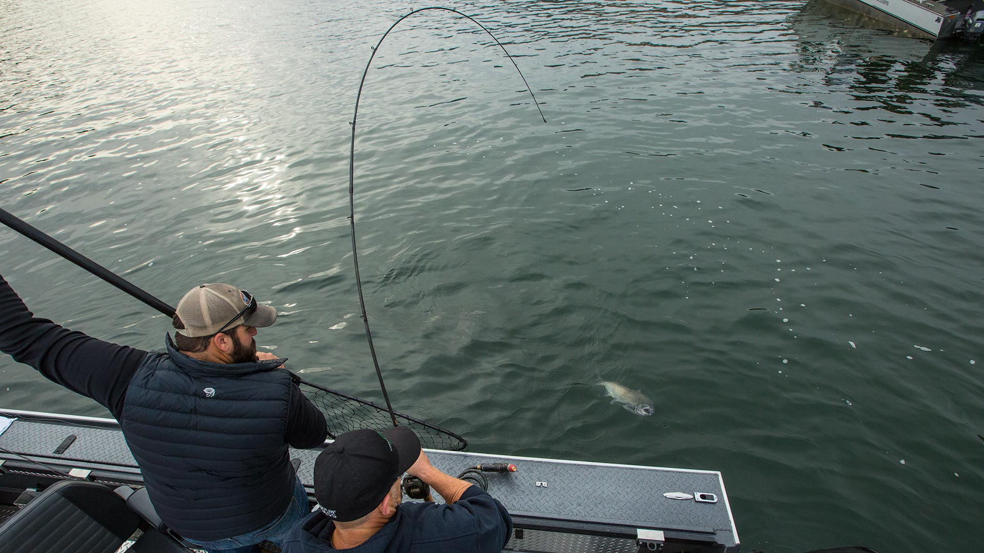 Columbia river bent rods never get old for Columbia river salmon fishing