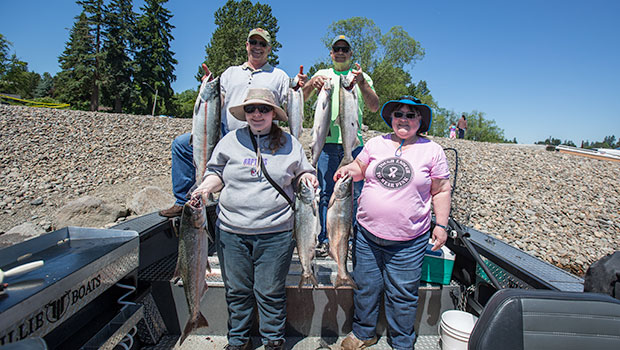 happy fishermen with Spring Chinook from the Willamette in Portland Oregon