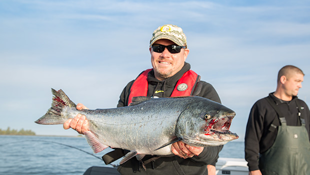 A beautiful Astoria Spring Salmon caught on the Columbia River.