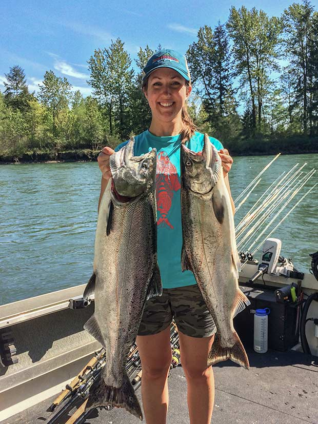 Amazing weather and amazing Spring Chinook Salmon