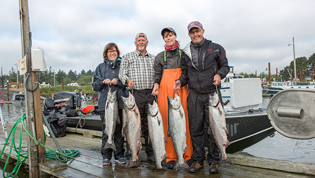 A nice bunch of fish caught during the buoy 10 salmon season