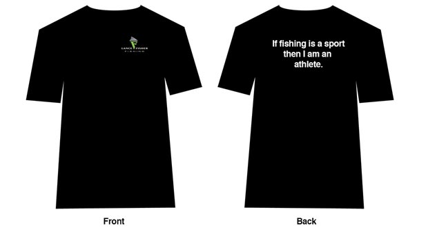 Lance Fisher Fishing T Shirt front and back