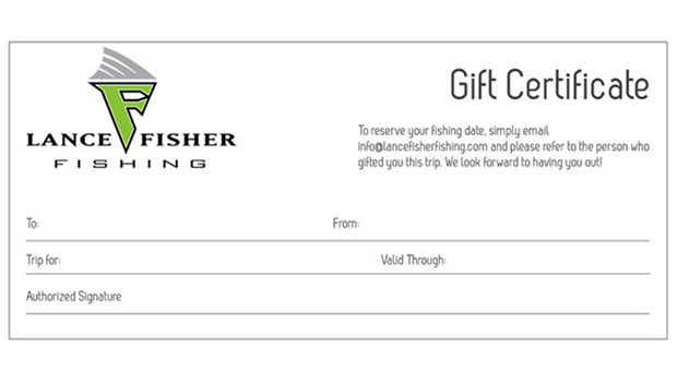Lance Fisher Fishing Gift Certificate