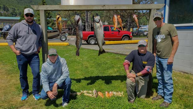 Salmon and Bottom Fish on the Trophy Board in Tillamook