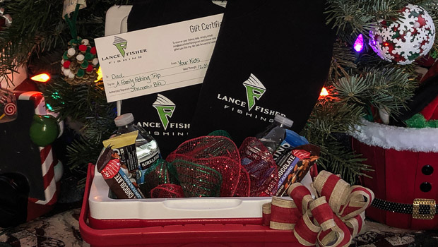 Gift certificates for guided fishing trips fit wonderfully under the tree